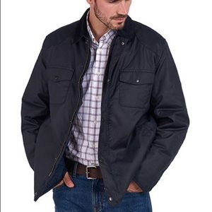 Barbour dalegarth waxed jacket navy